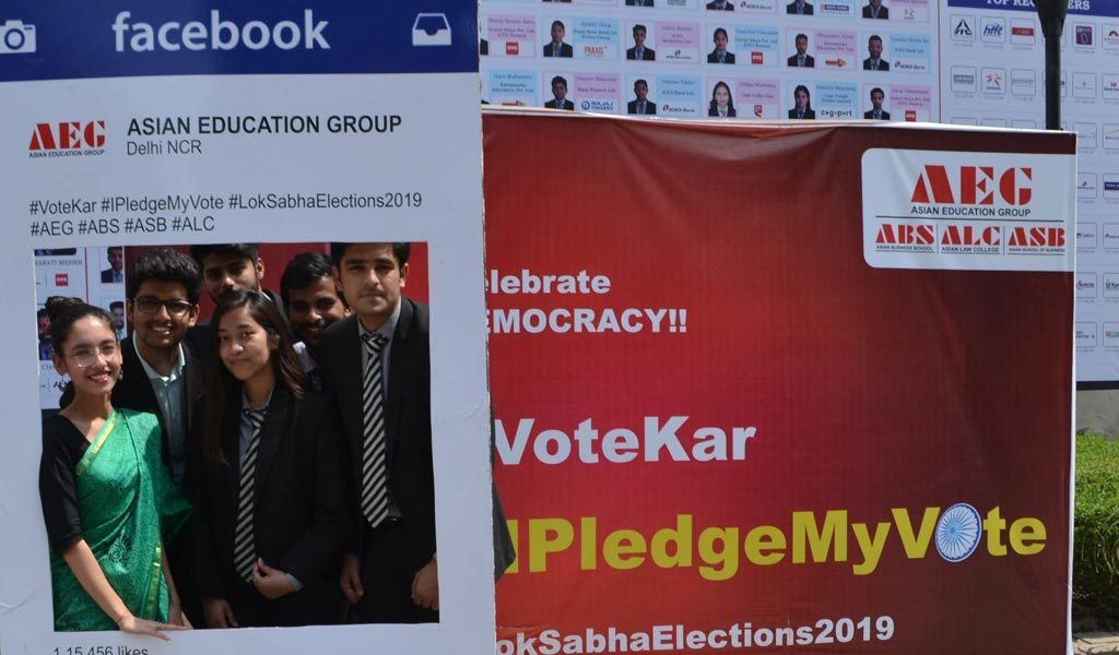 Asian Education Group students actively participate in #IPledgeMyVote for a better India campaign!