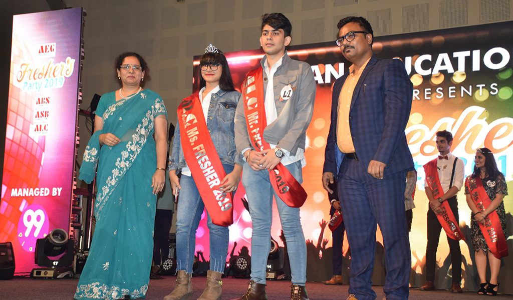 Fresher's Party 2019 at AEG's Asian Law College – Crowning of Mr. and Ms. Fresher