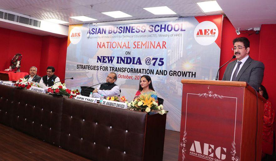 Asian School of Business, Noida hosted National Seminar 12 oct