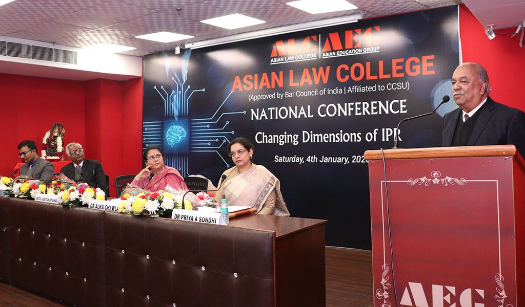 "Asian Law College hosts a National Conference on ""CHANGING DIMENSIONS OF INTELLECTUAL PROPERTY RIGHTS"""