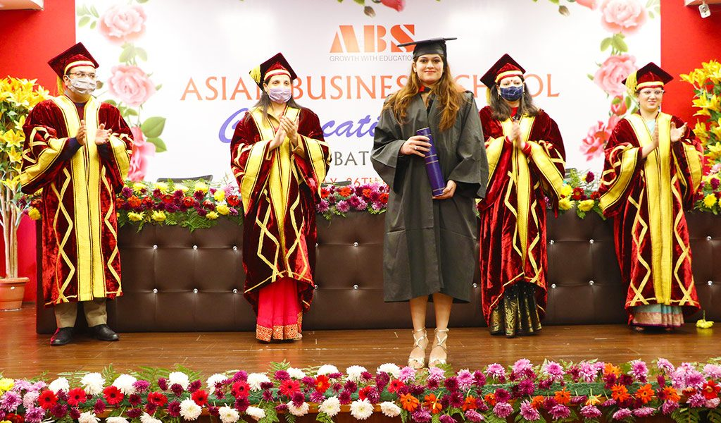 7th Annual Convocation Ceremony of AEG's Asian Business School held for ABS PGDM 2017-19 batch students
